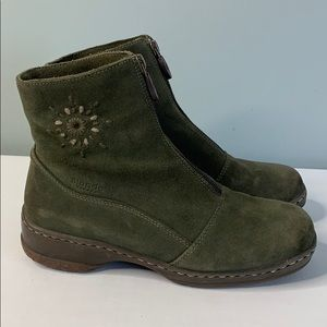 Blondo Green Suede Ankle Booties